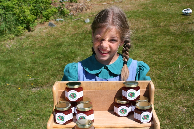 This is Alice, whose family sold salmonberry jam